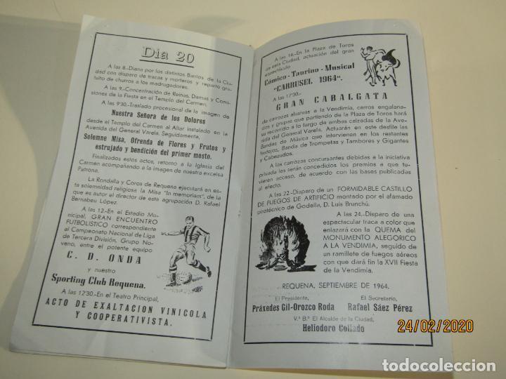 Carteles Feria: Antiguo Programa Oficial de Festejos de XVII Fiesta de la Vendimia de Requena del Año 1964 - Foto 3 - 195137083