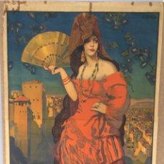 Carteles Feria: CARTEL CORPUS CHRISTI GRANADA 1926. Lote 195393732