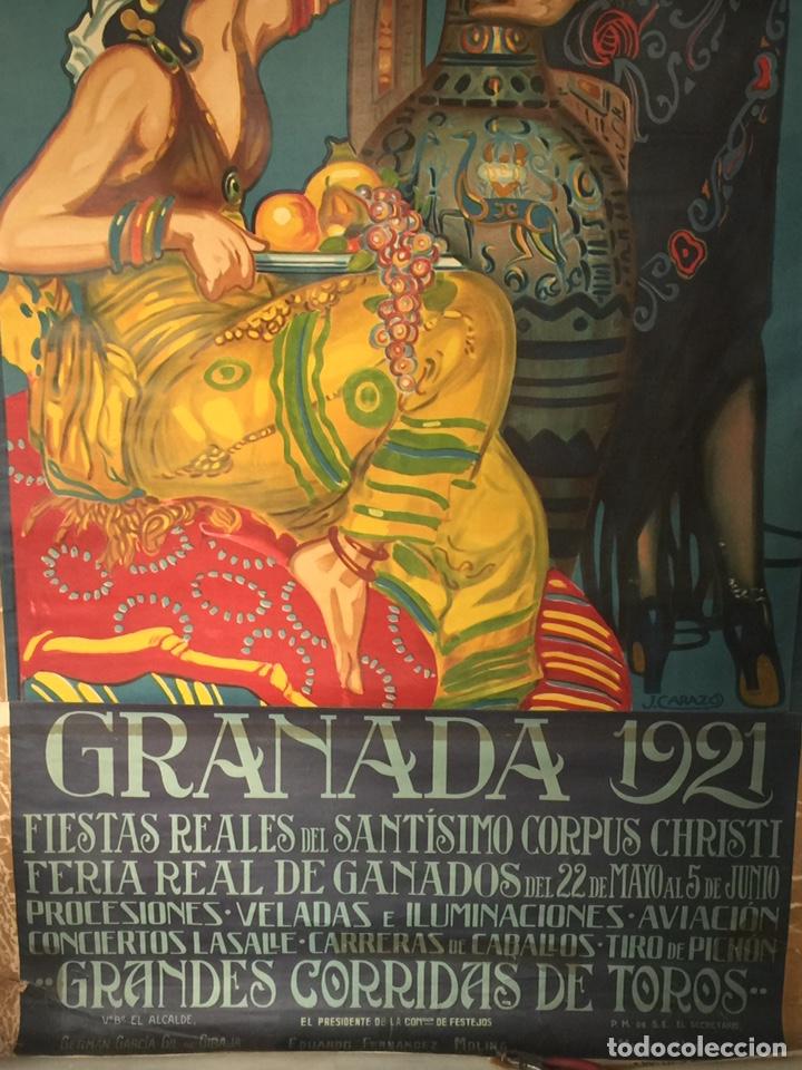 Carteles Feria: Cartel Oficial de Fiestas y De Corpus Christi Granada 1921 - Foto 4 - 195394726