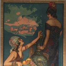 Carteles Feria: CARTEL OFICIAL DE FIESTAS Y DE CORPUS CHRISTI GRANADA 1921. Lote 195394726