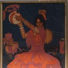 Carteles Feria: CARTEL OFICIAL DE FIESTAS DEL CORPUS CHRISTI- GRANADA 1924. Lote 195396548
