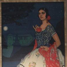 Carteles Feria: CARTEL OFICIAL DE FIESTAS DEL CORPUS CHRISTI- GRANADA 1925. Lote 195397186