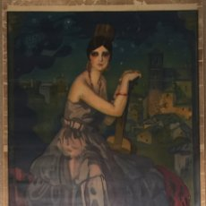 Carteles Feria: CARTEL OFICIAL DE FIESTAS DEL CORPUS CHRISTI Y FERIA REAL - GRANADA 1927. Lote 195398505
