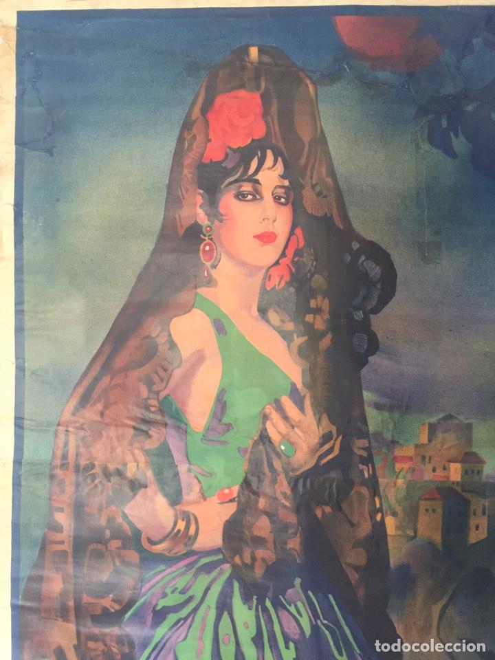 Carteles Feria: Cartel Oficial de Fiestas del Corpus Christi y Feria Real - Granada 1931 - Foto 2 - 195401907