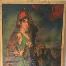 Carteles Feria: CARTEL OFICIAL DE FIESTAS DEL CORPUS CHRISTI Y FERIA REAL - GRANADA 1931. Lote 195401907