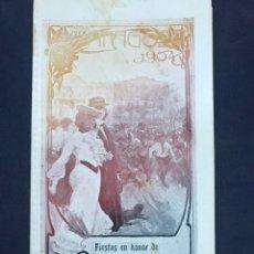 Carteles Feria: ZARAGOZA PROGRAMA OFICIAL FIESTAS DEL PILAR 1904.. Lote 196515285
