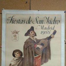 Carteles Feria: CARTEL FIESTAS DE SAN ISIDRO MADRID 1955. EL CIEGO DE LA GUITARRA. ILUSTRADO POR F. VILLALBA.. Lote 196915742