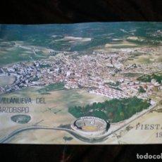 Carteles Feria: PROGRAMA DE FIESTAS VILLANUEVA DEL ARZOBISPO 1974. Lote 197975440
