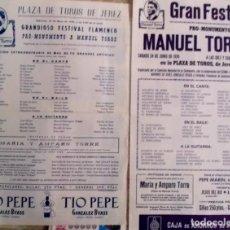 Affissi Fiera: 1978 FESTIVAL FLAMENCO MONUMENTO A MANUEL TORRES 2 CARTELES. Lote 199241395