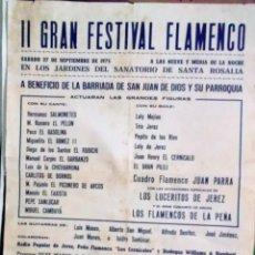 Affissi Fiera: 1975 II GRAN FESTIVAL FLAMENCO A BENEFICIO. Lote 199304826