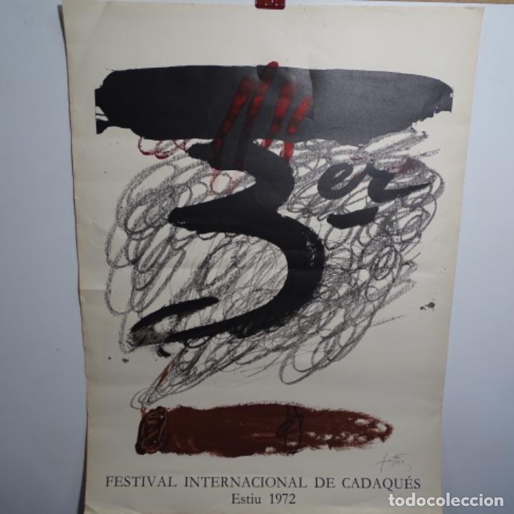 CARTEL FESTIVAL INTERNACIONAL DE CADAQUES ESTIU 1972.TAPIES. (Coleccionismo - Carteles Gran Formato - Carteles Ferias, Fiestas y Festejos)