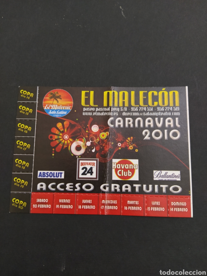 ABONO CARNAVAL DE CÁDIZ 2010 - EL MALECON (Coleccionismo - Carteles Gran Formato - Carteles Ferias, Fiestas y Festejos)