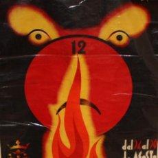 Carteles Feria: CARTEL DE LAS FALLAS EN ALCOY (AGOSTO DEL 1936) 123 CM. X 84 CM.. Lote 202939967
