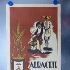 Carteles Feria: CARTEL ALBACETE, FERIA Y FIESTAS - AÑO 1953 - LITOGRAFIA. Lote 204072902