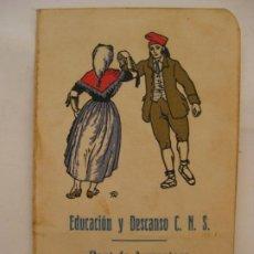 Carteles Feria: EDUCACION Y DESCANSO C.N.S. - PONT DE ARMENTERA AÑO 1941, CATALANES. Lote 204656142
