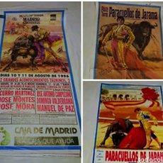 Carteles Feria: GRAN LOTE DE 11 CARTELES TAURINO TOROS PLAZA DE LAS VENTAS DE MADRID Y PARACUELLOS DEL JARAMA CARTEL. Lote 114744182