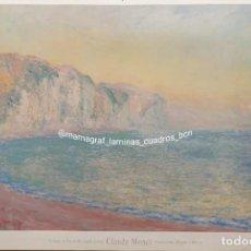 Affiches Foire: CLAUDE MONET. FALAISES A POURVILLE, SOLEIL LEVANT. MAMAGRAF. Lote 260312250