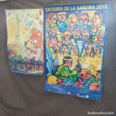 Carteles Feria: LOTE DE 2 CARTELES O POSTERS DEL ENTIERRO DE LA SARDINA, MURCIA, 1993 Y 2015. Lote 205246020
