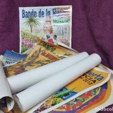 Carteles Feria: COLECCIÓN DE 12 CARTELES DEL BANDO DE LA HUERTA, 2 FIRMADOS, MURCIA, TODOS FOTOGRAFIADOS,98 X 69 CMS. Lote 205247912