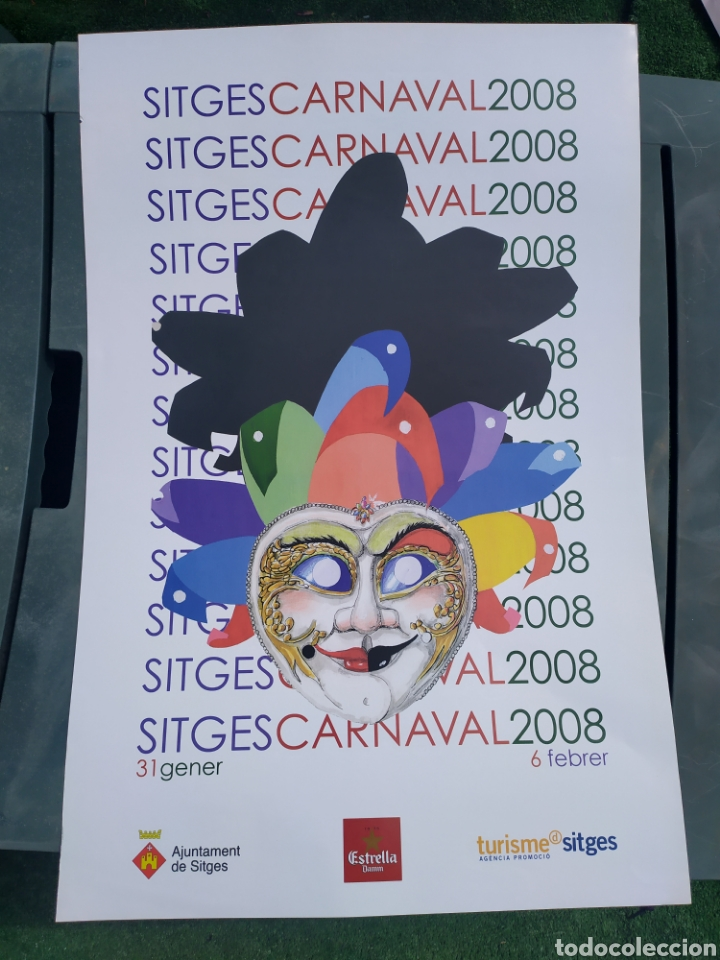 CARNAVAL SITGES 2008 (Coleccionismo - Carteles Gran Formato - Carteles Ferias, Fiestas y Festejos)