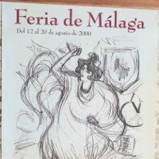 Carteles Feria: CARTEL DE FERIA DE MALAGA 2000.BAILAORA.PABLO RUIZ PICASSO 1899. Lote 205695975