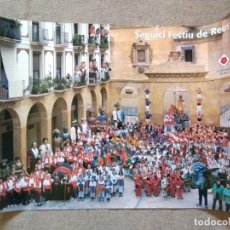 Carteles Feria: PÒSTER EL SEGUICI FESTIU DE REUS. Lote 206117418