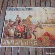 Carteles Feria: CARTEL SEVILLA 1916 SEMANA SANTA Y FERIA ,RICO CEJUDO MIDE 49.5 X 39 CM. Lote 206329018