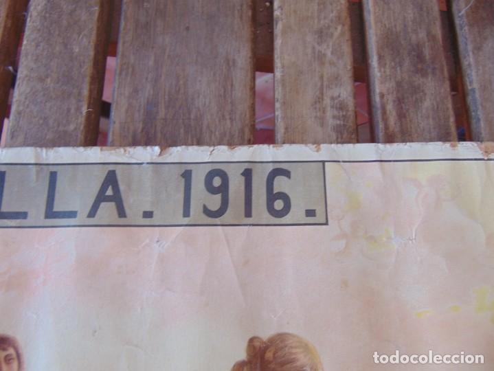 Carteles Feria: CARTEL SEVILLA 1916 SEMANA SANTA Y FERIA ,RICO CEJUDO MIDE 49.5 X 39 CM - Foto 3 - 206329018