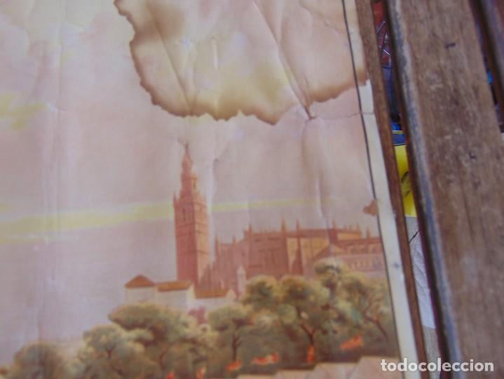 Carteles Feria: CARTEL SEVILLA 1916 SEMANA SANTA Y FERIA ,RICO CEJUDO MIDE 49.5 X 39 CM - Foto 5 - 206329018