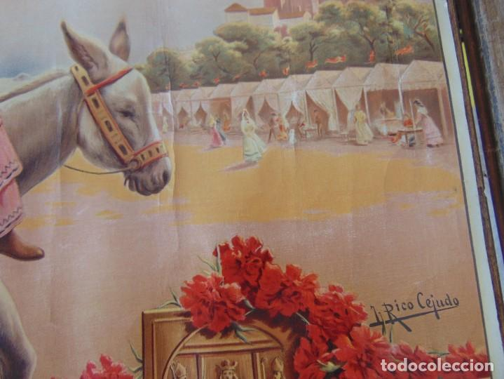 Carteles Feria: CARTEL SEVILLA 1916 SEMANA SANTA Y FERIA ,RICO CEJUDO MIDE 49.5 X 39 CM - Foto 6 - 206329018