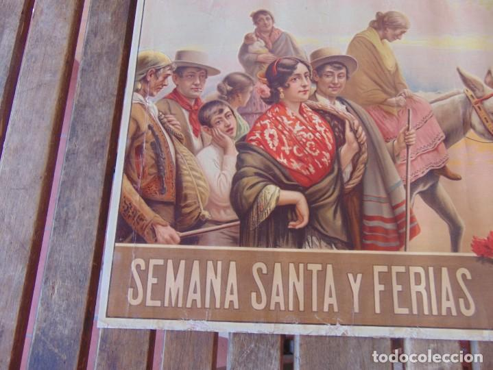 Carteles Feria: CARTEL SEVILLA 1916 SEMANA SANTA Y FERIA ,RICO CEJUDO MIDE 49.5 X 39 CM - Foto 10 - 206329018