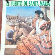 Carteles Feria: CARTEL FERIA DEL PUERTO 1990. Lote 206357645