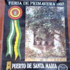 Carteles Feria: CARTEL FERIA DEL PUERTO 1980. Lote 206358691