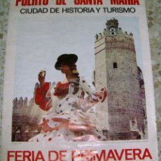Carteles Feria: CARTEL ORIGINAL FERIA EL PUERTO 1968. Lote 206472710