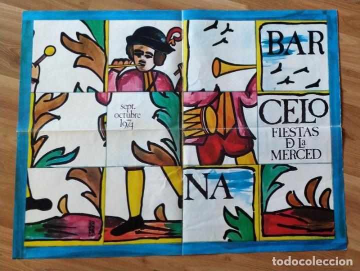 CARTEL GRAN FORMATO, BARCELONA FESTES DE LA MERCÉ, FIESTAS DE LA MERCED 1976. (Coleccionismo - Carteles Gran Formato - Carteles Ferias, Fiestas y Festejos)