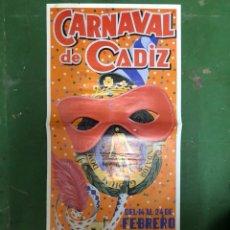 Carteles Feria: CARTEL CARNAVAL CADIZ 1985. Lote 207142606