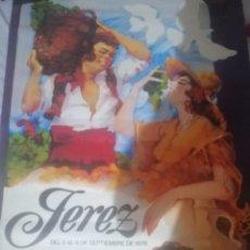 Carteles Feria: CARTEL FIESTAS DE LA VENDIMIA JEREZ DE LA FRONTERA. Lote 207567412