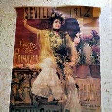 Carteles Feria: CARTEL GRAN FORMATO (159X109 CM) SEVILLA FIESTAS DE LA PRIMAVERA 1985. Lote 210562427