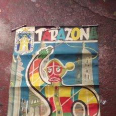 Carteles Feria: TARAZONA, ZARAGOZA, CARTEL FIESTAS AÑO 1961, LITOGRAFIA. MAL CONSERVADO. Lote 210718664