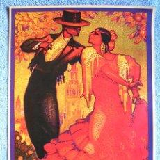Carteles Feria: CARTEL POSTER RETRO - SEVILLA - SEMANA SANTA - FERIA ABRIL PRIMAVERA - AÑO 1928. ANDALUCIA. Lote 210819484