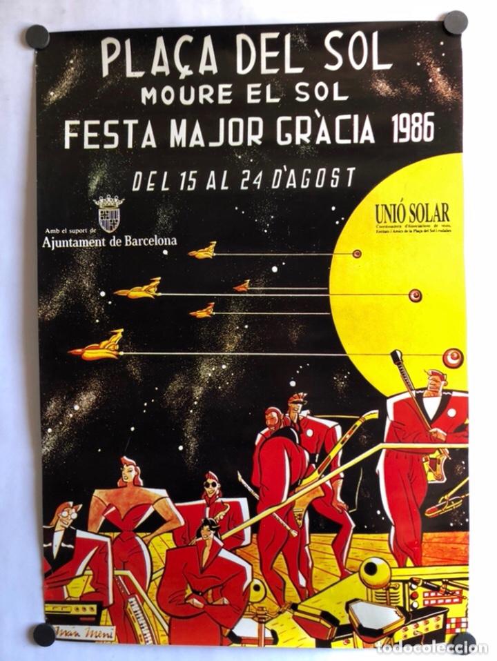 FESTA MAJOR GRÀCIA 1986. CARTEL ORIGINAL DE LAS FIESTAS DE BARRIO DE GRACIA (BARCELONA). (Coleccionismo - Carteles Gran Formato - Carteles Ferias, Fiestas y Festejos)