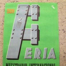 Carteles Feria: CARTEL FERIA MUESTRARIO INTERNACIONAL VALENCIA 1957 -ORIGINAL-. Lote 213168266