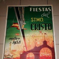 Carteles Feria: ANTIGUO CARTEL FIESTAS DEL STMO. CRISTO - LA LAGUNA 1958 - TENERIFE. Lote 213327673