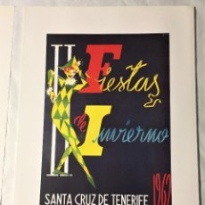 Affissi Fiera: CARTEL DE CARNAVAL DE TENERIFE - AÑO 1962. EN PERFECTO ESTADO. 29X40. Lote 214051321