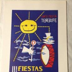 Affissi Fiera: CARTEL DE CARNAVAL DE TENERIFE - AÑO 1964. EN PERFECTO ESTADO. 29X40. Lote 214051666