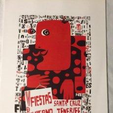 Affissi Fiera: CARTEL DE CARNAVAL DE TENERIFE - AÑO 1965. EN PERFECTO ESTADO. 29X40. Lote 214051760