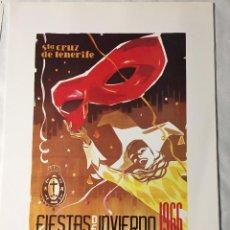 Affissi Fiera: CARTEL DE CARNAVAL DE TENERIFE - AÑO 1966. EN PERFECTO ESTADO. 29X40. Lote 214052263