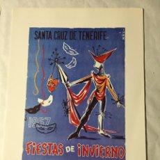 Affissi Fiera: CARTEL DE CARNAVAL DE TENERIFE - AÑO 1967. EN PERFECTO ESTADO. 29X40. Lote 214052360