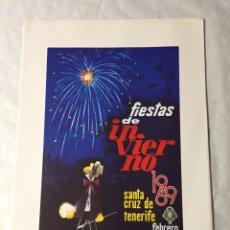 Affissi Fiera: CARTEL DE CARNAVAL DE TENERIFE - AÑO 1969. EN PERFECTO ESTADO. 29X40. Lote 214052561