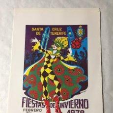 Affissi Fiera: CARTEL DE CARNAVAL DE TENERIFE - AÑO 1972. EN PERFECTO ESTADO. 29X40. Lote 214052786